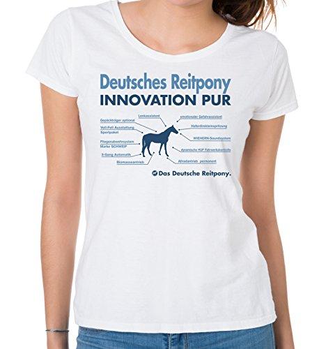 Siviwonder WOMEN T-Shirt INNOVATION - DEUTSCHES REITPONY Pony - Pferde Fun reiten Weiß
