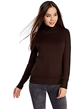 oodji Collection Damen Viskose-Pullover Basic