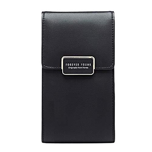 Luckycat Bolsa de teléfono Celular Universal Multi-Pocket Bandolera Bolsa con Correa de Hombro Mini cuero de la PU Bolso de Crossbody Teléfono móvil Bolso Pequeña Bolso de la carpeta