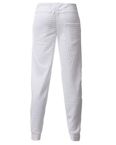 Homme Pantalons de Survêtement Jogging Sport Pantalon Casual Eté Loose Blanc