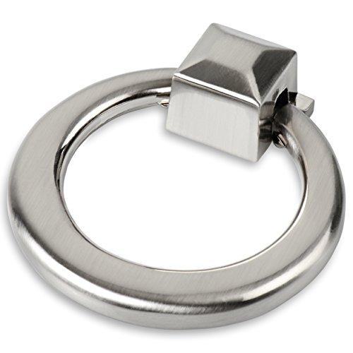 Southern Hills Ring gebürstetes Nickel zieht–Pack von 5–Tür zieht, Schrank Schublade zieht, Satin Nickel Küche und Bad Schränke und Möbel–shkm3282-sn-5 (Round Knob Cabinet Nickel Satin)