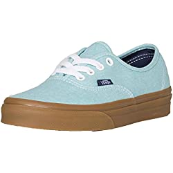 Vans Authentic - (washed Canvas) Blue Radiance/gum - 6