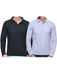 Grand Bear Full Sleeve Polo T-shirt For Men Pack Of 2