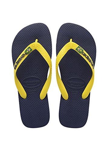 Havaianas Brasil Logo, Chanclas Unisex Adulto, Multicolor (Navy Blue/C