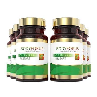 BodyFokus Clean Body Restart - Hoher Gehalt an Silymarin - 6 Dosen