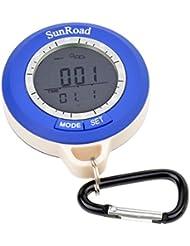 Ckeyin Multifunktions Digital Kompass mit Höhenmesser + Wetter + Barometer + Thermometer und mehr