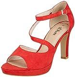 s.Oliver 5-5-28323-22 500, Zapatos de tacón con Punta Abierta para Mujer, Rojo (Red, 41 EU