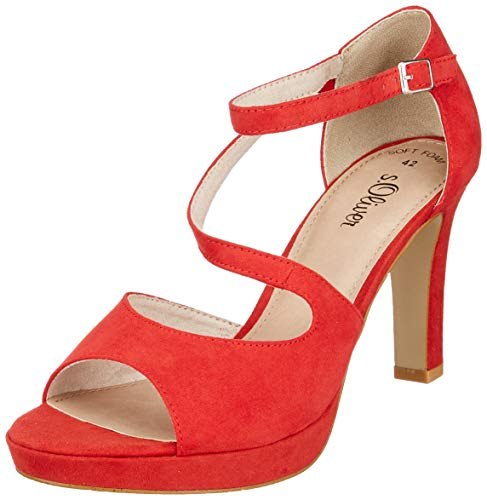 s.Oliver Damen 5-5-28323-22 500 Peeptoe Pumps, Rot (Red 500), 37 EU