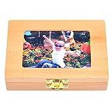 Cokeymove Holz Kinder Bilderrahmen Milchzahn Aufbewahrungsbox Baby Zähne Aufbewahrungsbox Baby Geschenk für Mutter & Baby