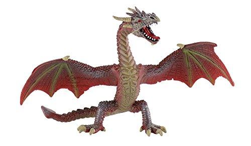 Bullyland 75591 - Spielfigur, fliegender Drache rot, ca. 17,8 cm -