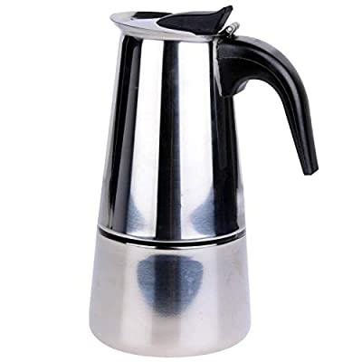 Voche® 6 Cup Milan Style Stainless Steel Espresso Coffee Maker Stove Top Percolator
