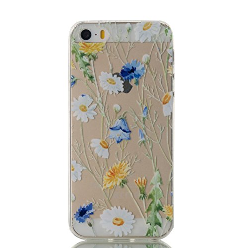 iPhone 5 Transparent Case - Felfy Ultra mince Slim Cool Funny Quotes You Make my heart Smile motif Style Gel Souple Soft Flexible TPU Silicone Coque Etui Protective Housse Bumper Cas Cover Couverture  Chrysanthème Coque