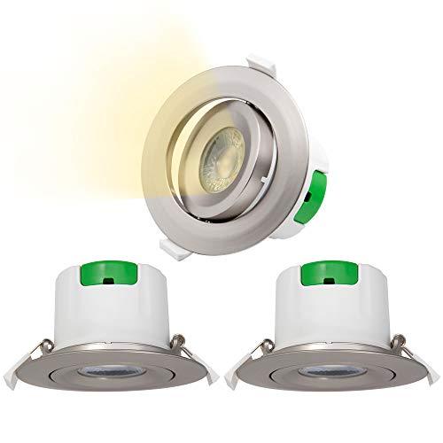 Lamparas Plafones Focos Downlight Empotrables en Techo de LED Giratorio Plástico Níquel...