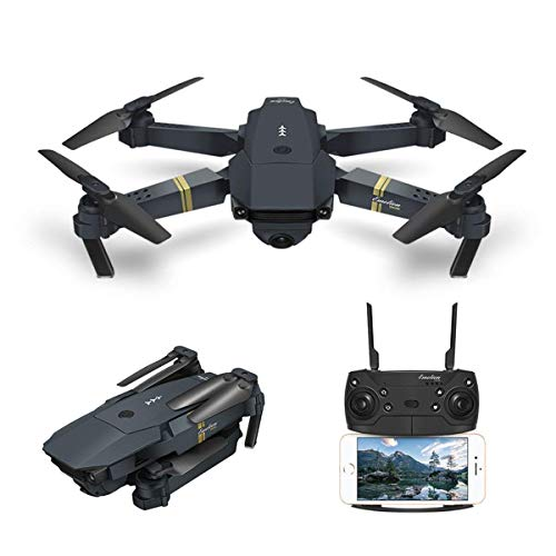 Kaiaki Drohne mit Kamera-Live-Video, FPV-Quadrocopter Drone X Pro Xtreme WiFi mit 120 ° Weitwinkel-720P-HD-Kamera Faltbare Drohne RTF - Altitude Hold,Black,480p