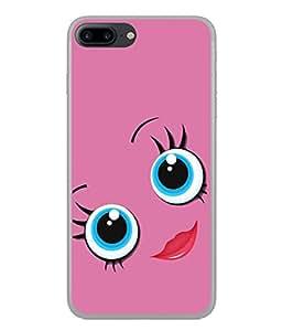 PrintVisa Cute Girly Face High Gloss Designer Back Case Cover for Apple iPhone 7 Plus