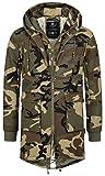 Navahoo 2in1 Herren Winterjacke Winter Jacke Warm Parker Teddyfell B645 [B645-Assasin-Camo-Gr.L]