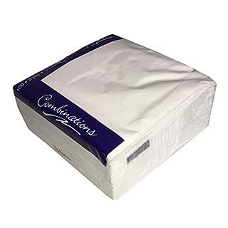 Tezraftaar® 1000 33cm X 33cm 2-Ply Napkins Soft Paper Napkins Tableware Party Supplies Celebration (White)