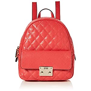 Guess Damen Tiggy Bowery Backpack Rucksack, Rosa, 11.5x27.5x23.5 Centimeters