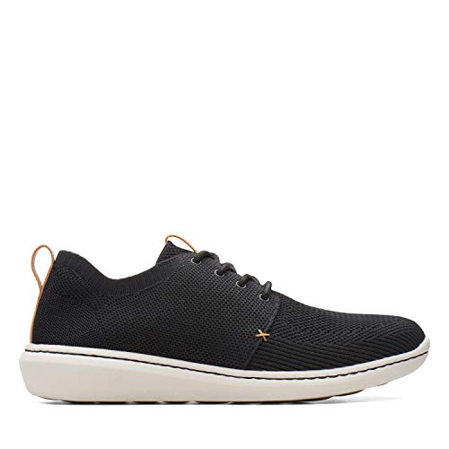 Clarks Herren Step Urban Mix Sneaker, Schwarz (Black), 42 EU (Clark Schuhe Von)