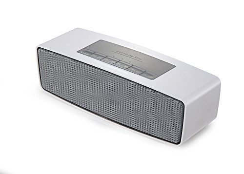 [DalTech] Stylish Design Wireless Bluetooth Speaker with Enhanced Bass, Water Resistant, Perfect Speaker for Beach, Shower, Echo Dot & Home (Silver)