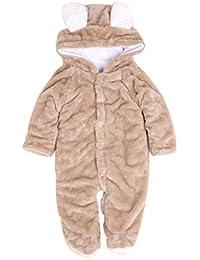 Enfant Combinaison Body - SODIAL(R)Hiver Nouveau Ne Garcon Fille Enfant Bebe Combinaison Body Grenouillere Bebe Couleure:Cafe Tailles:80