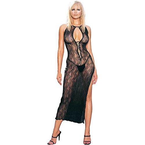 LEG AVENUE langes Kleid mit Deep Throat IN PRINT VY Remolinos - De Noche Kleider