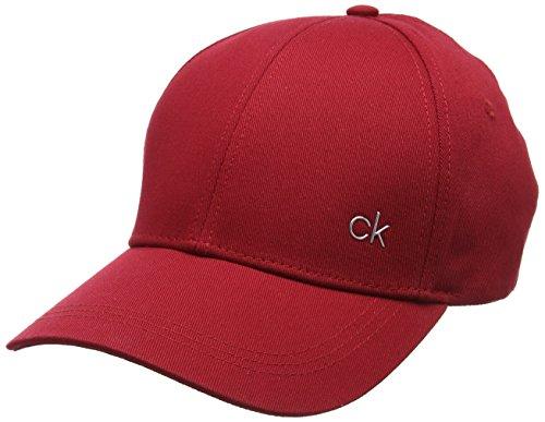 Calvin Klein Unisex CK Metallic Baseball Cap M, Rot (Dark Red 627), One Size