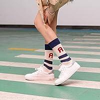 CYMTZ 5 Pares/Paquete Calcetines De Algodón para Mujer Calcetines para Amantes Frescos Calcetines Blancos para Mujer A Rayas1