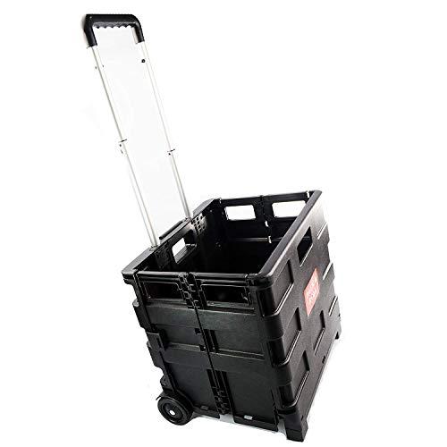 zizzi 25kg Shopper Klappbarer Trolley Gepäck Speicher Warenkorb Faltbare Kofferraum Box Shopmonk -