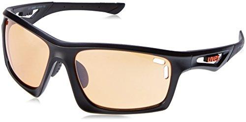 UVEX S5308682116 Sportsonnenbrille sportstyle 700 black mat/litemirror orange (S1)