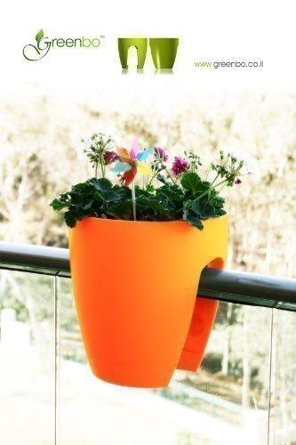 Fioriere In Plastica Per Balconi.Greenbo Vaso Per Fiori In Plastica Adatto A Balconi Non Richiede