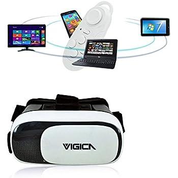 Google Cardboard Lunettes 3D Réalité Virtuelle Casque VR BOX2 Bluetooth Contrôleur, pour 4.7 - 6.0 pouces Smartphones