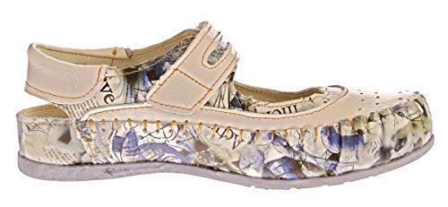 TMA Damen Leder Ballerinas Echtleder Slipper Comfort Schuhe