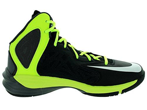 Nike Prime Hype Df, Scarpe da Basket Uomo, Nero Bianco / Nero / Verde (Black / White-Anthracite-Volt)