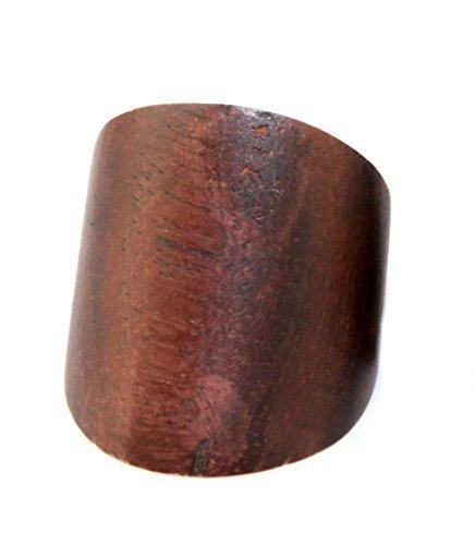 Natürlicher brauner Holz Ring aus Bali - CK11 - ca. 17-20mm Durchmesser (17 Natürliche)