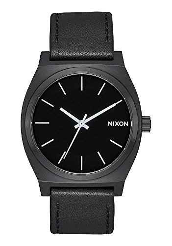 nixon-time-teller-leather-37mm-black-watch-unisex