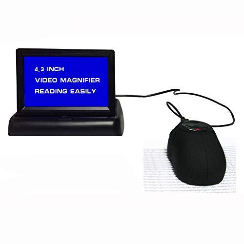 JL Handheld-Mauslupe Digitale Videolupe für Das Fernsehen: Visual/Reading Aide Vergrößern Sie Bücher, Zeitungen Und Zeitschriften,Mouse+Display -