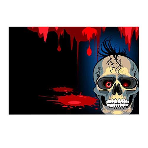 Silber Kostüm Mann Und Rot Iron - Halloween mysteriöse Kulisse schwarze Nacht Vollmond Wolf Friedhof Zombie Schädel Horror Foto Requisiten Halloween Party Portrait Tür Fotoshooting Booth Spooky Masquerade Decor 3x5FT