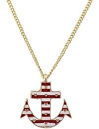 LUX accesorios dorado amor ancla náutica colgante collar