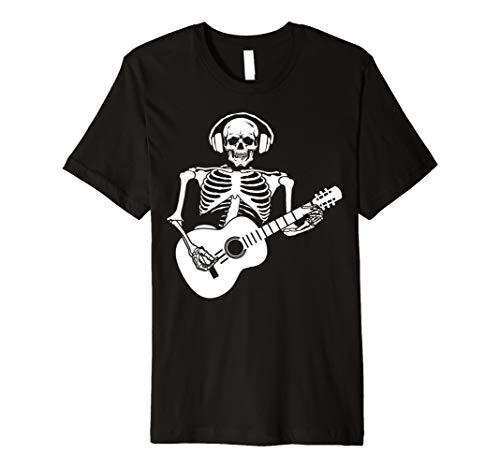 Herren Skelett Gitarre Halloween-Kostüm T-Shirt
