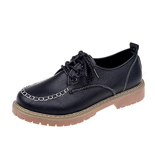 Schuhe Damen Vintage, Sonnena Casual Flache Knöchel Schuhe Freizeitschuhe Frauen Herbst Schnürer Lederstiefel Boots Mode Booties Bequem Stiefeletten Outdoor Stiefel