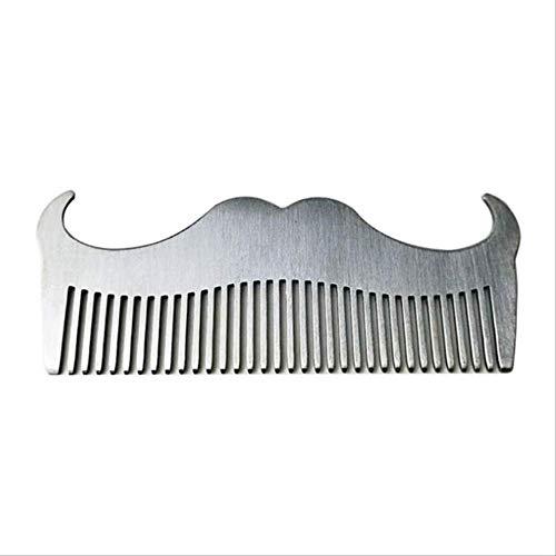 ADFWW Peine Acero Inoxidable Barba Peine Antiestático