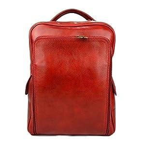 44803f445d390 Leder rucksack hüfttasche umhängetasche schultertasche tragetasche  ledertasche seitentasche herren damen reisetasche made in Italy rot