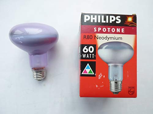 Philips Pflanzenlicht Reflektorlampe E27, R80, 60W, Natura