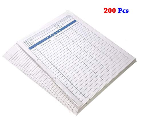 SEPAL White Project Paper Sheets, A4 Size 200 Punched Sheets File One Side Ruled Assignment