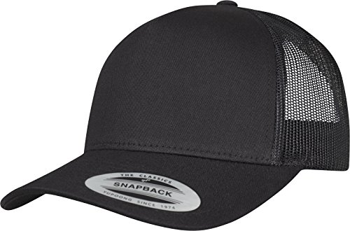 Flexfit 5-Panel Retro Trucker Cap Kape, Black, one size