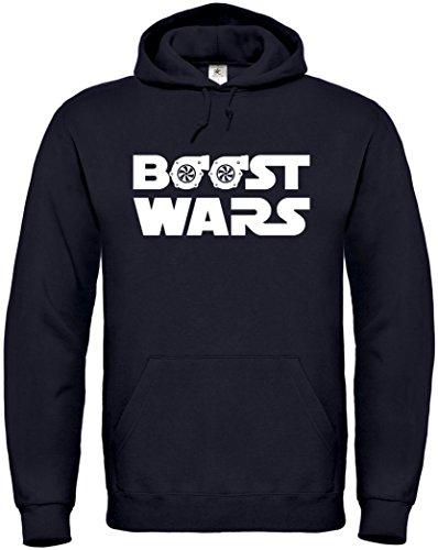 Textildruck Universum Hoodie Boost Wars