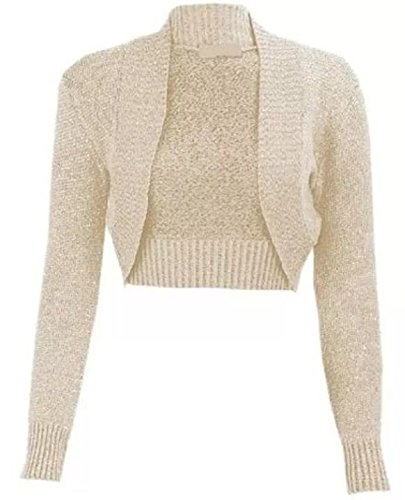FLAVES FASHION - Boléro - Femme multicolore multicolore Beige