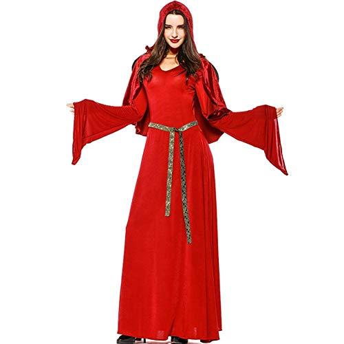 AIYA Halloween Red Vampire Kostüm Devil Wear Witch Slim Dress Game - Red Devil Dress Kostüm