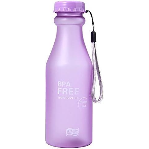 joymod vaso zumo de limón de plástico Pop botella portátil viajes mug-550ml morado
